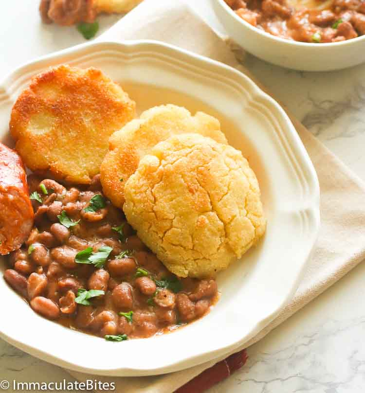 Soup Beans And Fried Corn Cakes