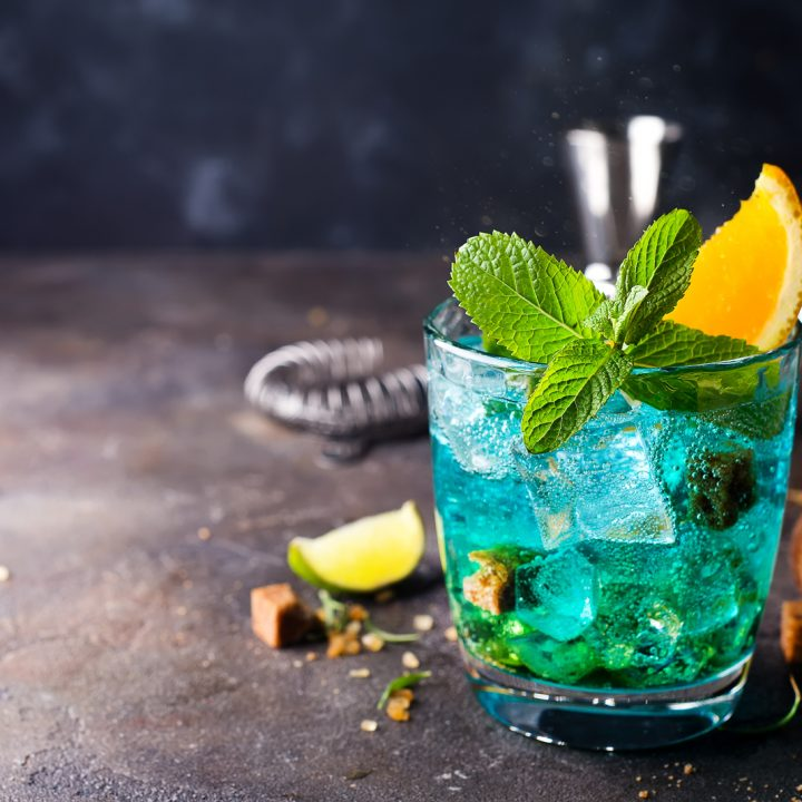 blue raspberry cocktail